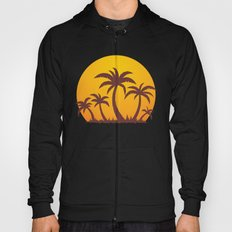 Palm Trees And Summer Sunset Hoody