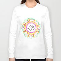 ohm Long Sleeve T-shirts featuring Ohm / OM  by HollyJonesEcu