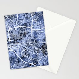 Glasgow Scotland Street Map Stationery Cards
