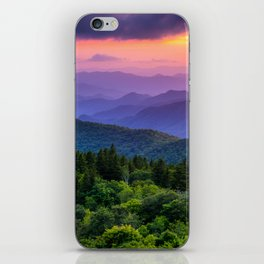 Sundown from Cowee Mountains Landscape iPhone Skin