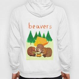 Beavers Illustration Hoody