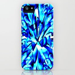 Painterly Ocean Blue Floral Abstract iPhone Case