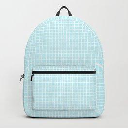 Baby Blue Grid Backpack