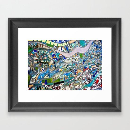 Venice Beach Bathroom Art Framed Art Print