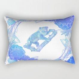 Australian Native Floral Print with Koala Rectangular Pillow