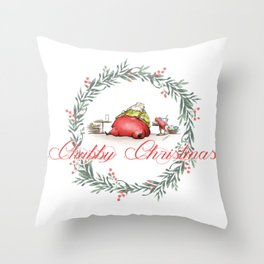 Happy Christmas! Throw Pillow