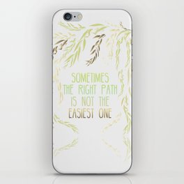 Grandmother Willow's Words iPhone Skin