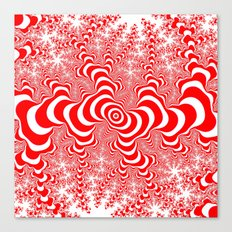 red and white fractal Canvas Print