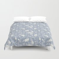 camouflage Duvet Covers featuring Camouflage by Grafite