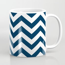 Navy Blue Chevron Pattern Coffee Mug