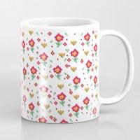 pixel Mugs featuring Pixel by Kakel