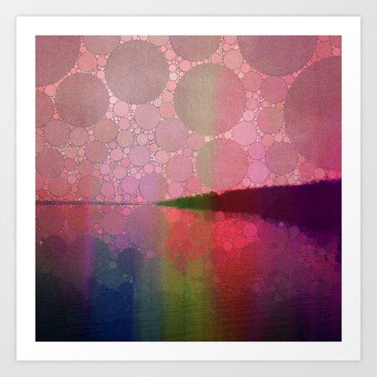 Shoreline - Sunset Art Print