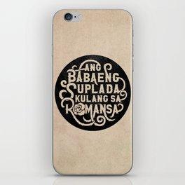 Ang Babaeng Suplada Kulang Sa Romansa iPhone Skin