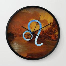 Fine Zodiac / Leo Wall Clock