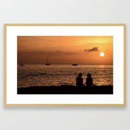 Tranquil Friends Framed Art Print