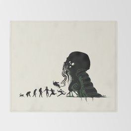 Lovecraftian Darwinism Throw Blanket