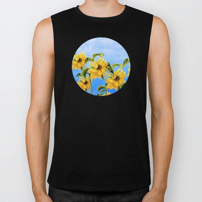 Where the Sunflowers Grow Biker Tank