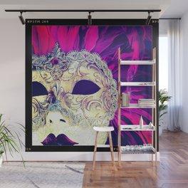 Venetian Women Of Mystery Mask Wall Mural