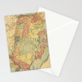 Vintage Map of Canada (1898) Stationery Cards