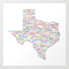 Where Y'all From? Art Print