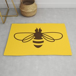 Be safe - save bees Rug