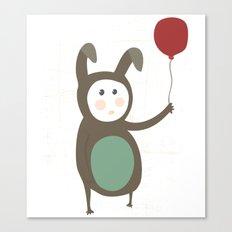 Bunny boy with a balloon Canvas Print