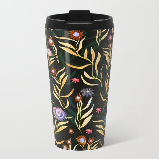 flowers garden Metal Travel Mug