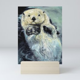 Sea otter painting Mini Art Print