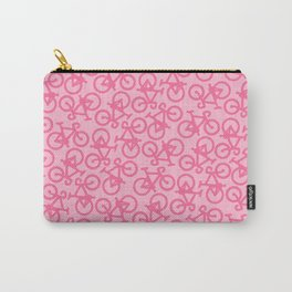 Pastel Pink Bikes Pattern Carry-All Pouch
