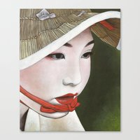 geisha Canvas Prints featuring Geisha by Andrea Maiorana
