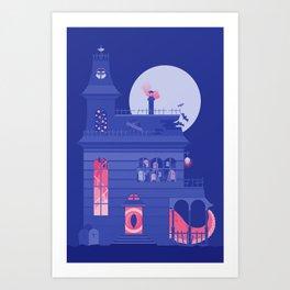 Cursed Residence Art Print