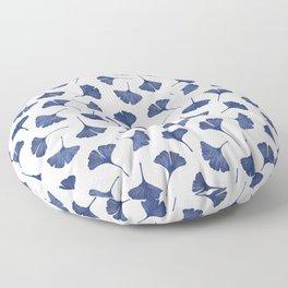 Blue Ginkgo Biloba Pattern Floor Pillow