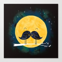 Moonstache Canvas Print