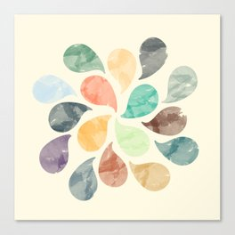Colorful Water Drops (Watercolor version) Canvas Print