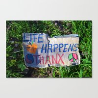 philosophy Canvas Prints featuring Discarded Philosophy  by Gary Lee Hutchings
