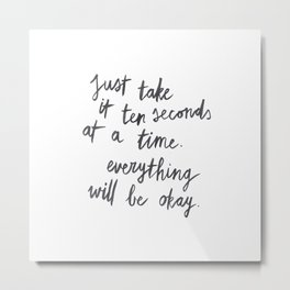 Ten Seconds At A Time Metal Print