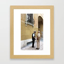Unknown Faces In Different Places (Pt 9 - Verona, Italy) Framed Art Print