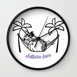 Chillaxo Taco Wall Clock
