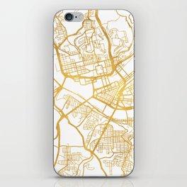 PITTSBURGH PENNSYLVANIA CITY STREET MAP ART iPhone Skin