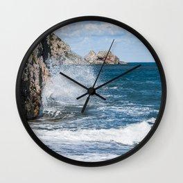 Crashing into rocks Wall Clock