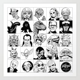 Inktober Monsters Art Print