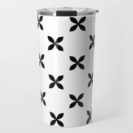 Pattern in Black and White Travel Mug