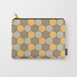 Honeycombs op art beige Carry-All Pouch