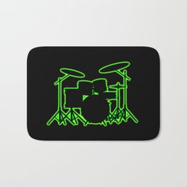 Neon Drum Kit Bath Mat