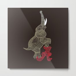 Alabama Proud (Elephant) Metal Print