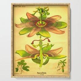 vintage Botanical illustration (passiflora) Serving Tray