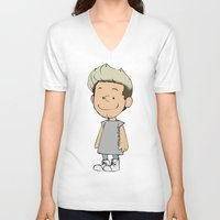 niall V-neck T-shirts featuring Schulz Niall by Ashley R. Guillory