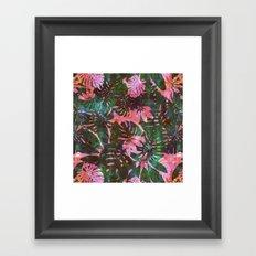 Motuu Tropical Pink & Green Framed Art Print