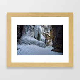 The Queen of Maligne Canyon, Jasper National Park Framed Art Print