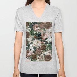 rose bushes brown Unisex V-Neck